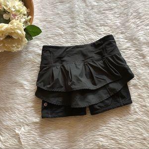 Lululemon Black Skirted Shorts